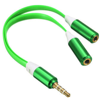 3.5mm Male to 2 Dual Female Jack Splitter Headphone Y Audio AdapterCable for iPod, iPhone, Mp3, Mp4