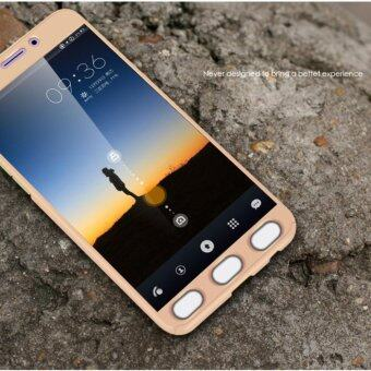 360 Degree Full Body Protection Cover Case With Tempered Glass for Oppo F1S A59 (Gold)