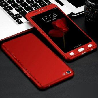 Harga 360 Degree Full Body Protection Cover Case With Tempered Glass for Oppo F1S A59 (Red)