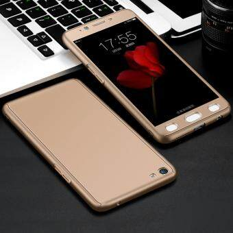 Harga 360 Degree Full Body Protection Cover Case With Tempered Glass forOppo F1S A59 (Gold)