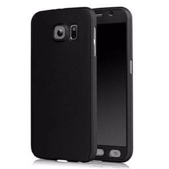 Harga 360 Degree Full Body Protection Cover Case With Tempered Glass forSamsung Galaxy A7 2017 (Black)