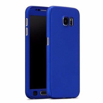 Harga 360 Degree Full Body Protection Cover Case With Tempered Glass forSamsung Galaxy A7 2017 (Blue)