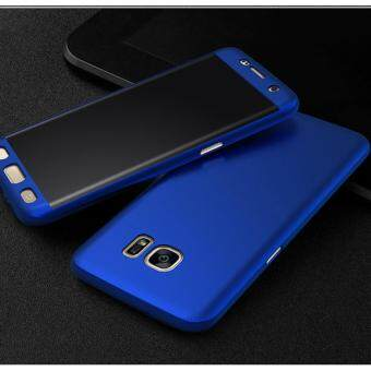 360 Degree Full Body Protection Cover Case With Tempered Glass forSamsung Galaxy A7 2017 (Blue)