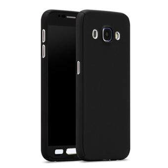 Harga 360 Degree Full Body Protection Cover Case With Tempered Glass forSamsung Galaxy J7 2016 (Black)