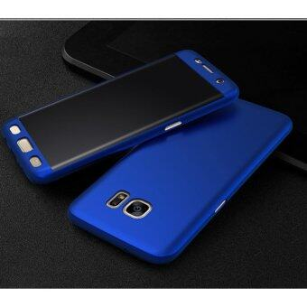 Harga 360 Degree Full Body Protection Cover Case With Tempered Glass forSamsung Galaxy J7 Prime (Blue)
