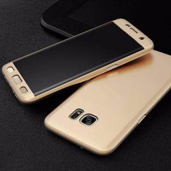 360 Degree Full Body Protection Cover Case With Tempered Glass forSamsung Galaxy J7 Prime (Gold)