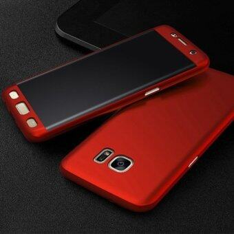 Harga 360 Degree Full Body Protection Cover Case With Tempered Glass forSamsung Galaxy J7 Prime (Red)