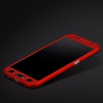 Harga 360 Degree Full Body Protection Cover Case With Tempered Glass forSamsung Galaxy Note 3 (Red)