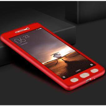Harga 360 Degree Full Body Protection Cover Case With Tempered Glass forXiaomi Redmi 4A (Red)