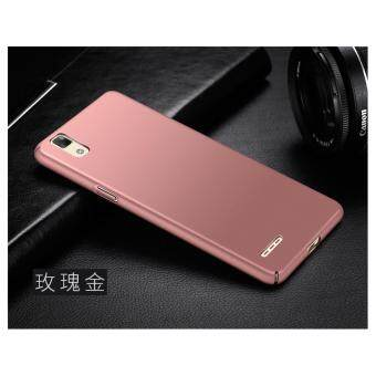 360 Degree Protective Case Ultra Thin PC Hard Case for OppoF1/A35(Rose gold) - intl