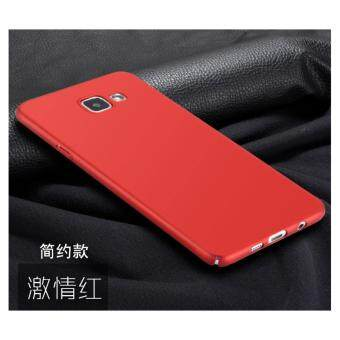 360 Degree Protective Case Ultra Thin PC Hard High quality classicCase for S amsung Galaxy A9 Pro(Red)