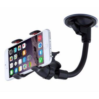 360?Rotation Car Mount Windshield Phone Holder For Most PhoneDouble Clip Car Mount Car Holder