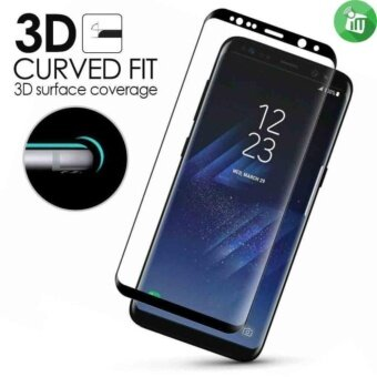 Harga 3D Curved Full Screen Cover Tempered Glass Screen Protector Film for Samsung Galaxy S8 Plus (Black)