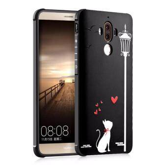 3D Embossed Cat Silicone TPU back cover case for Huawei Mate 9