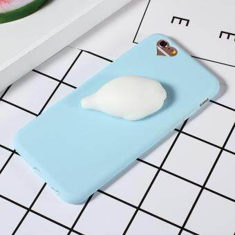 3D Kneading Seal TPU Squishy Phone Back Case for iPhone 6S/6 4.7inch - Blue
