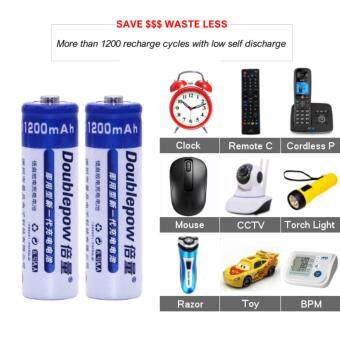 [4 PCS] AA 1.2V Rechargeable Battery Original Doublepow / 1200mAh AA Rechargeable Battery [3 Months Warranty] Malaysia