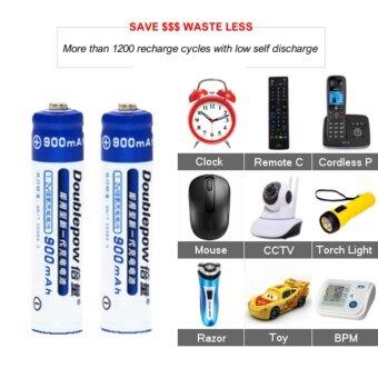 [4 PCS] AAA 1.2V Rechargeable Battery Original Doublepow / 900mAh AAA Rechargeable Battery [3 Months Warranty] Malaysia