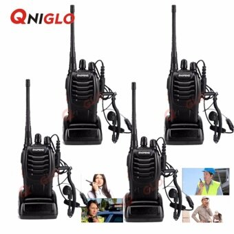 Harga 4 PCS Baofeng BF-888S Walkie Talkie Two-way Portable CB Radio(Black)