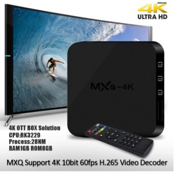 Harga 4k TV BOX Set MXQ Top Box RK3229 Quad Core Android Network Player1G 4k 1080p HD digital smart set-top TV box connected usb hdmi WiFinetwork DVB IPTV Black