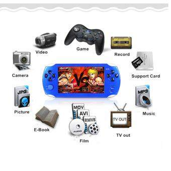 Harga 5.1-Inch 8G PSP Game Player 10000 Free Games Handheld GBA Consoles= MP3/MP4/MP5/FM/Camera (Blue)