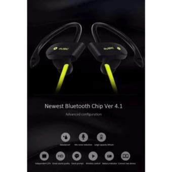 56S Bluetooth 4.1 Wireless Headset Outdoor Sports Running Stereo Music Smartphones Water Resistant Noise Cancellation Reduction Sweatproof Handsfree Earpiece Rechargeable In-Ear Earphones with 2 Months Warranty - [YELLOW] - 4