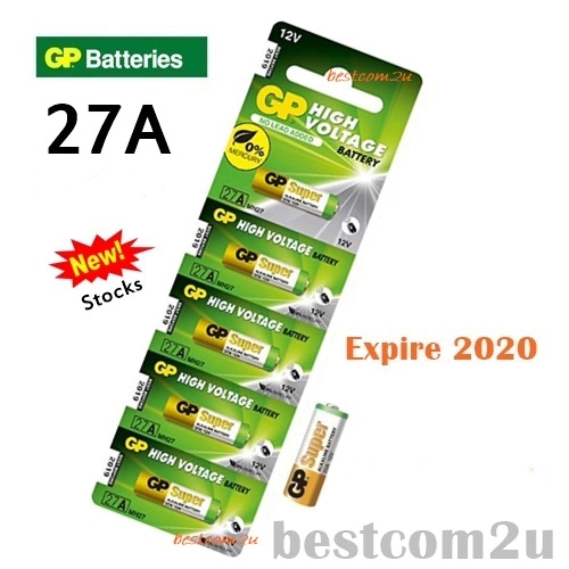 5PCS 27A ORIGINAL GP Alkaline Battery Remote Alarm 12V (Exp 2020) Malaysia