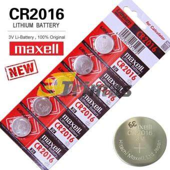 Harga 5PCS CR2016 Genuine Maxell Lithium Remote Control Battery