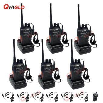 Harga 6 PCs Baofeng BF-888S Walkie Talkie Two-way Portable CB Radio(Black)