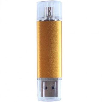 8GB OTG USB Flash Drive for SmartPhones Tablets and PCs OTG PhonePendrive and Computer 2 in 1 (Gold)