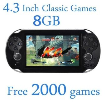 8GB Video Game Console Free 2000 Games 4.3 Inch MP4 MP5 PlayersHandheld Game Player (White)