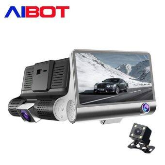 Aibot C2 4.0 Inch 170 Degree Wide-angle Cycle Video Car CameraRecorder with Three-way Camera