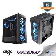 Aigo Black Technology Full Window (Front Panel Tempered Glass, Side Panel Acrylic) [ATX, Matx, Mini-ITX] Malaysia