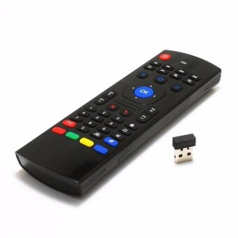 Harga Air Fly Mouse MX3 2.4GHz Wireless Keyboard Remote Control IR Learning 6 Axis for Android Smart TV BOX G Box IPTV HTPC Windows IOS Mac Linux PS3 Xbox