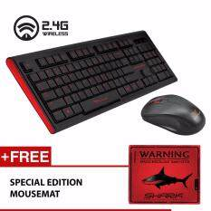 Alcatroz Xplorer Air 2200SL 2.4GHZ Wireless Keyboard And Mouse Combo Free Special Edition Mousemat Malaysia