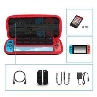 Ametoys Storage Bag Hard Carry Case for Nintendo Switch Black - 5