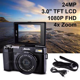 "Amkov 24MP Digital Camera FHD 1080P Video 3"" LCD Camcorder with UV Filter LF766"