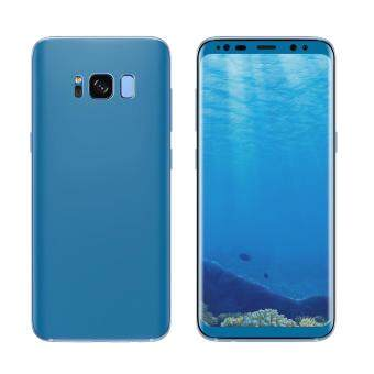 ANGIBABE 0.1mm Soft PET Full Cover Plated Curved Front + BackScreen Protector Film for Samsung Galaxy S8 Plus G9550 - Blue