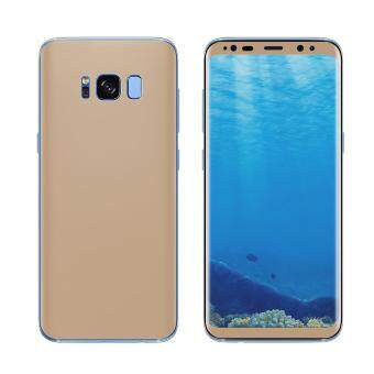 ANGIBABE Soft PET Full Cover Plated Curved Mobile Front + BackScreen Protector Film (0.1mm) for Samsung Galaxy S8 Plus G9550 -Gold