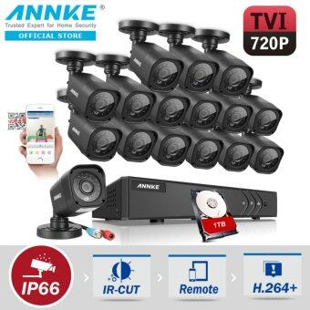 Harga ANNKE 1MP 720P 16 Bullet Cameras Included 1TB TOSHIBA HDD CCTV DVR Kits Security System-Indoor Outdoor Night Vision Desktop & App Remote Monitoring Motion Detect Alert