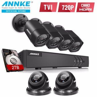 Harga ANNKE 1MP 720P 2 Dome 4 Bullet Cameras Included 2TB Seagate HDD CCTV DVR Kits Security System-Indoor Outdoor Night Vision Desktop & App Remote Monitoring Motion Detect Alert