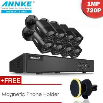 Harga ANNKE 1MP 720P 8 Bullet Cameras & 8 Channels DVR System NO Hard Drive Included 4-in-1 TVI AHD Analog IP - Motion Detection, Email Alert, P2P Remote Mobile Monitoring