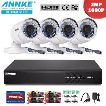 Harga ANNKE 2MP 1080P 4 Bullet Cameras NO HDD Included CCTV DVR Kits Security System-Indoor Outdoor Night Vision Desktop & App Remote Monitoring Motion Detect Alert