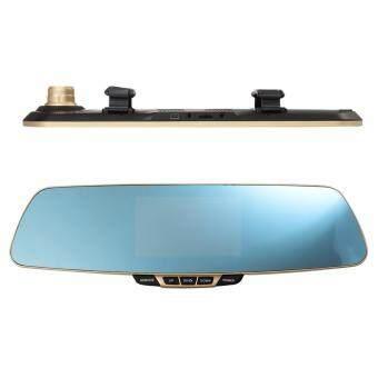 Anytek T6 HD Front & Rear Recording 2 in 1 Dual Lens Car CameraDVR Recorder with Rear View Mirror Digital Car Camcorder DashCam - 2