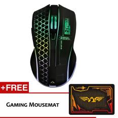 Armaggeddon Wireless Mikoyan Foxbat III Kevlar-13 RGB Gaming Mouse Free Mouse Pad Malaysia