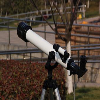 Astronomical Telescope F60700TX Refractor Type Space Monocular Telescope W/ Tripod Gift for Children(White)