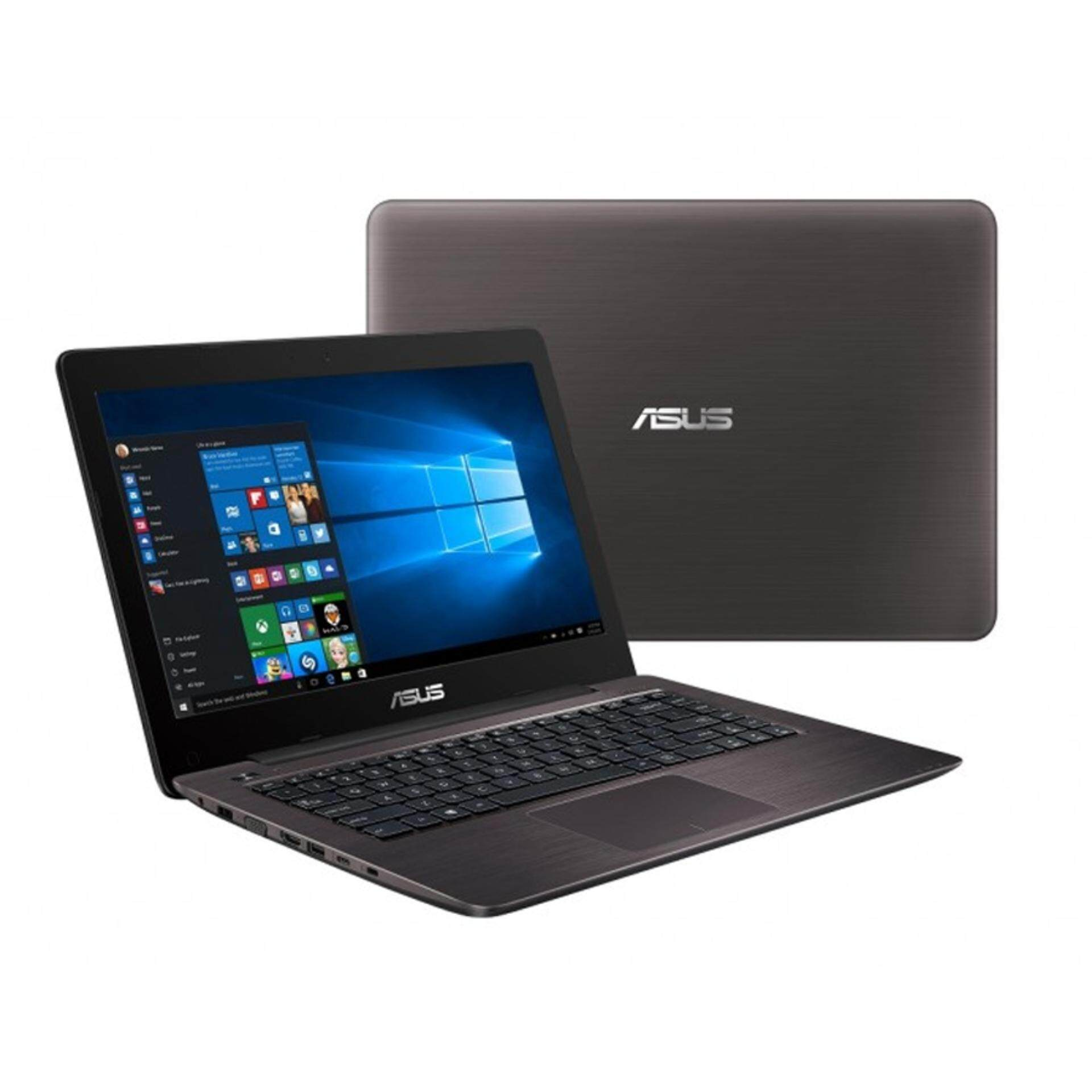 Asus A-Series A456U-RFA131T 14 FHD Laptop Brown (i5-7200, 4GB, 1TB, GT930MX 2GB, W10H) Malaysia