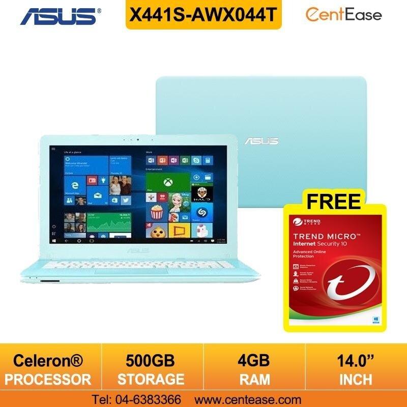 Asus X441S-AWX044T Laptop- 14Inch/ Celeron/ Blue (Free Internet Security) Malaysia