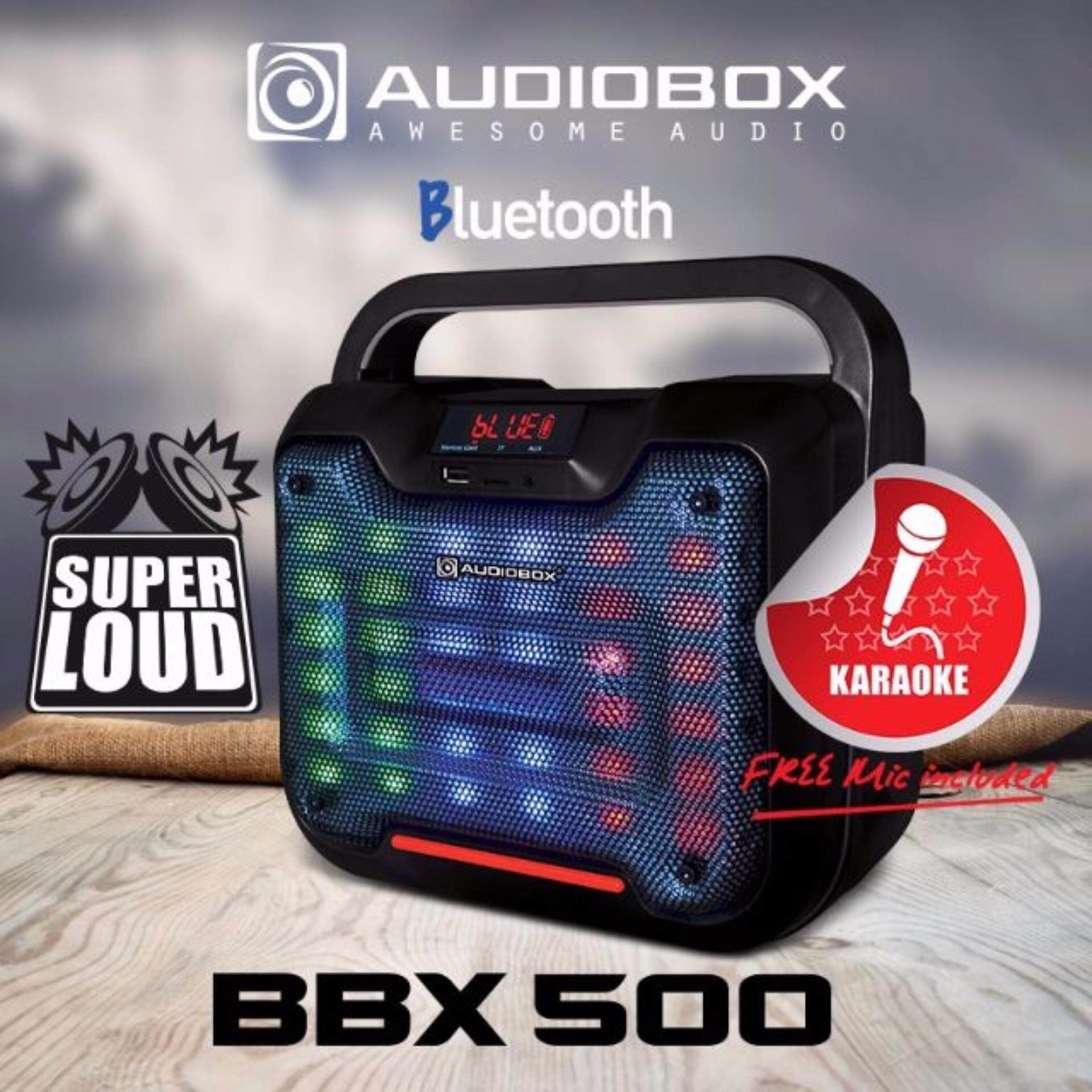 Audiobox BBX 500 Bluetooth LED Speaker FREE Microphone Malaysia