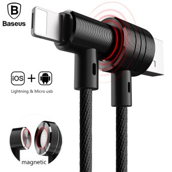 Baseus Dual-use USB Charging Cable Micro USB Magnetic Data Cable for IPhone 5 6 7 Samsung Huawei Xiaomi(120cm) - 2