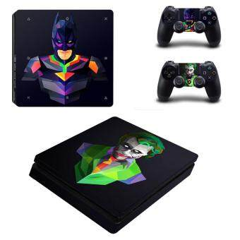 Harga Batman VS Joker Vinyl Skin Sticker for Sony Playstation 4 Slim PS4Slim Console & 2pcs Controller Protection Film StickersYSP4S-0365